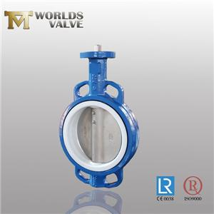 One Shaft Taper Pin Cast Iron Wafer Butterfly Valve