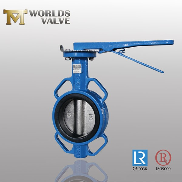 As Standard Ductile Iron Handle Wafer Butterfly Valve
