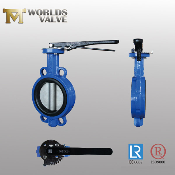 lever operation wafer butterfly valve