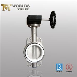 CE Approval Stainless Steel Body Wafer Butterfly Valve