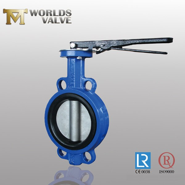 EPDM Rubber Bonded Acs Approval Wafer Butterfly Valve