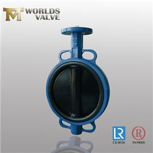 Hard Rubber Lined Disc Two Shaft Wafer Butterfly Valve