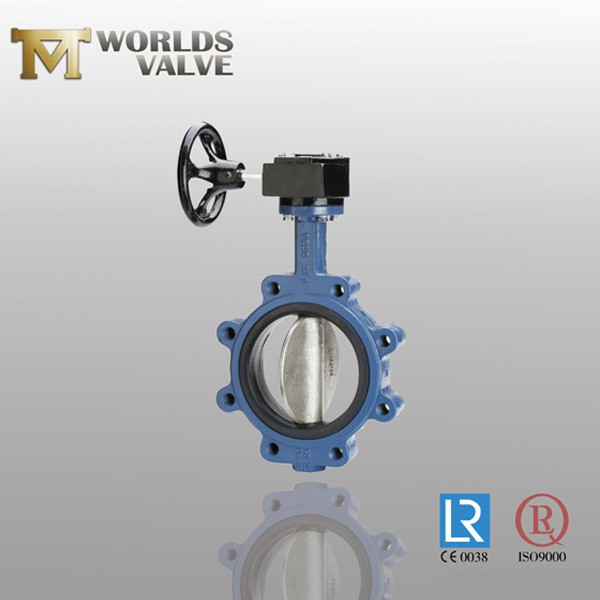 Rubber Seated Ductile Iron Gear Lug Butterfly Valve