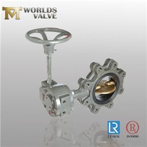 BS STD Válvula de mariposa de dos ejes de bronce de aluminio