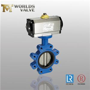 Pinless DDS Manual Fkm Rubber Lug Butterfly Valve
