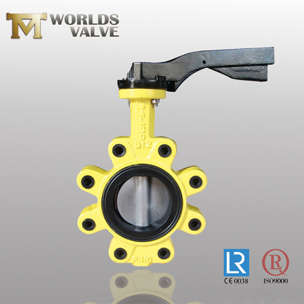 lever operation lug butterfly valve