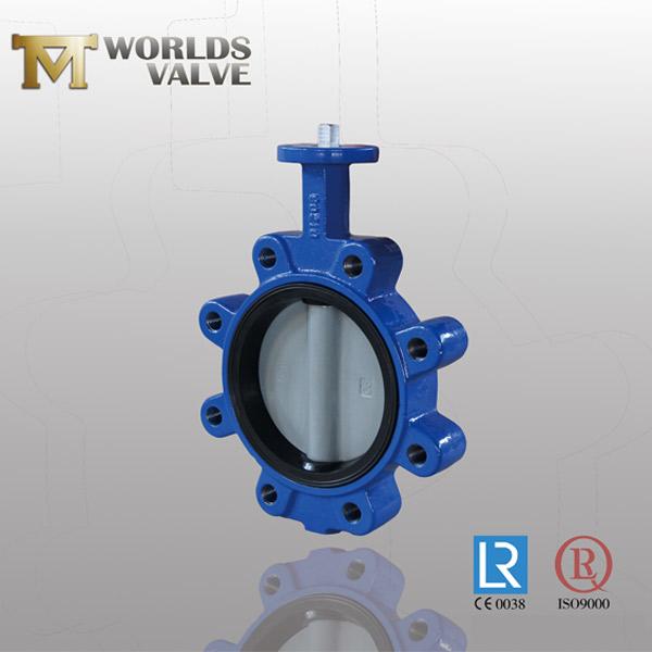 epdm rubber bonded lug butterfly valve