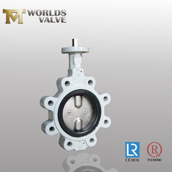 Hard Rubber Lined Disc Two Shaft Lug Butterfly Valve