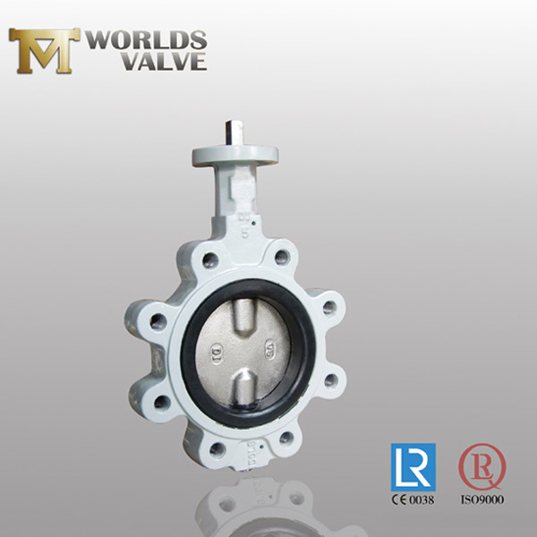 hard rubber lined disc lug butterfly valve