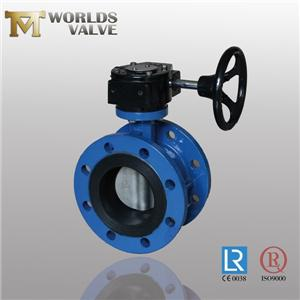 Rubber Seated Ductile Iron Gear Flanged Butterfly Valve