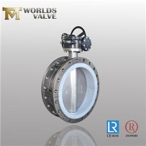 Cf8m Stainless Steel Fkm Liner Flanged Butterfly Valve