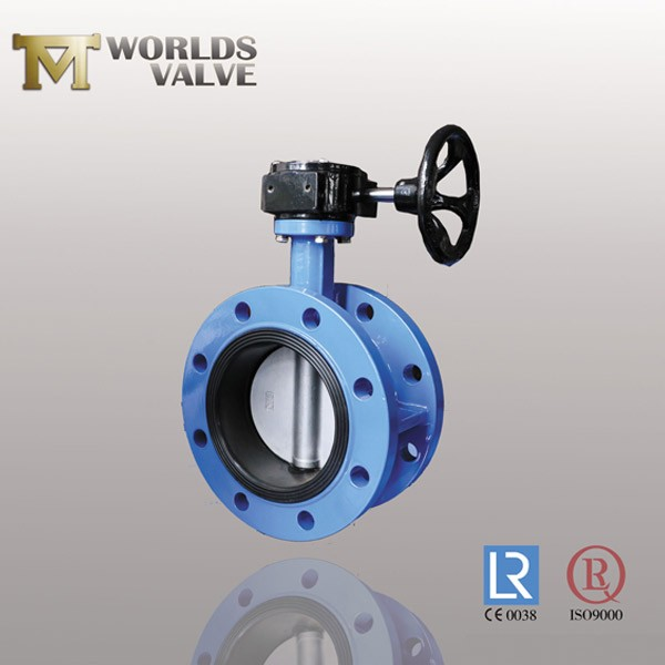 Pinless DDS Manual Fkm Rubber Flanged Butterfly Valve