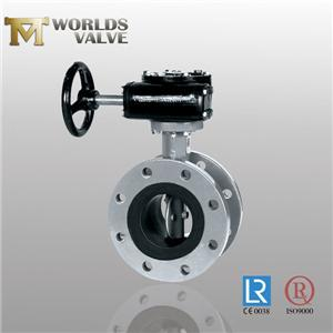 Undercut Disc Rubber Seated Cf8 Flanged Butterfly Valve