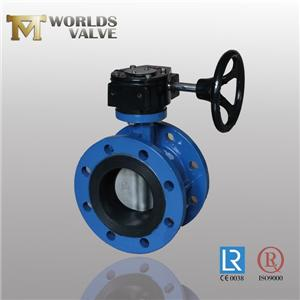 Cf8 Cf8m Flanged Butterfly Valve Pinless Rubber Seat