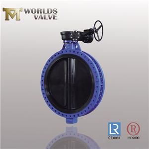 Nbr Lined Disc Nbr Seat Api609 Flanged Butterfly Valve