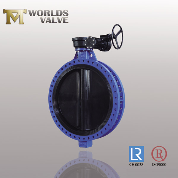 nbr lined disc flanged butterfly valve