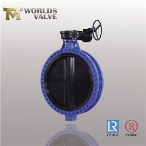 Hard Rubber Lined Disc Two Stem Flanged Butterfly Valve