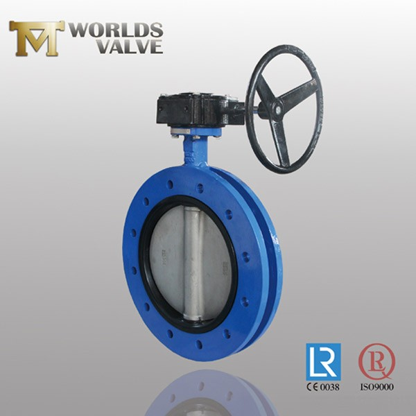 Rubber Seated Ductile Iron Gear Uflange Butterfly Valve