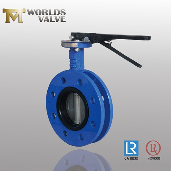 AS Standard Ductile Iron Handle Uflange Butterfly Valve