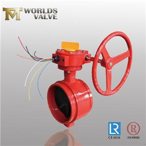 Awwa C606 Standard Grooved Ends Fire Butterfly Valve