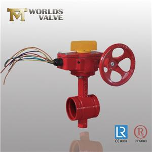 Din Ggg40 Fire Control Grooved Ends Butterfly Valve