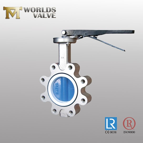 Wras Approval Rubber Seated Cf8m Lug Butterfly Valve