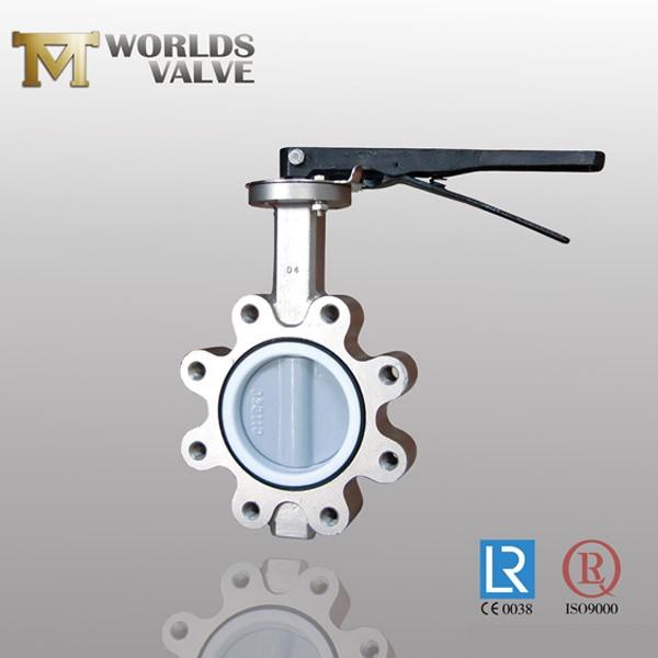 Válvula de borboleta do talão de disco do revestimento Nylon11 da aprovação de Wras