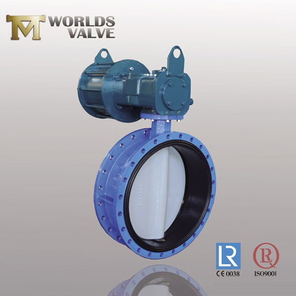 Acs Approval Nylon Coated Plate Flanged Butterfly Valve