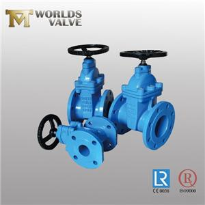 Awwa C509 No Rising Stem Double Flanged Gate Valve