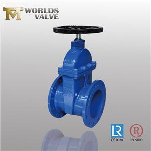 Din3202 F4 No Rising Shaft Double Flanged Gate Valve