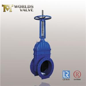 Din3202 F4 OSY Rising Shaft Double Flanged Gate Valve