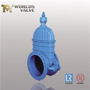 Din3202 F5 No Rising Stem Double Flanged Gate Valve