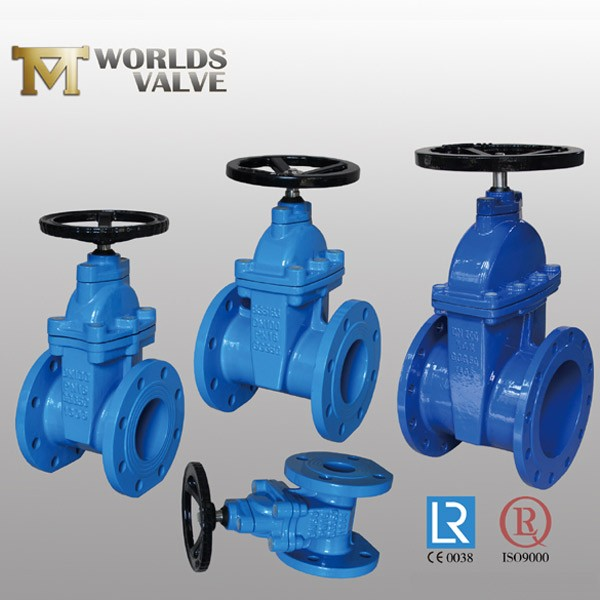 Rubberen handmatige handbediende No Rising Stem Gate Valve