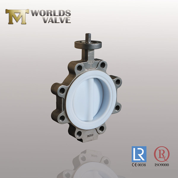 split body PFA butterfly valve