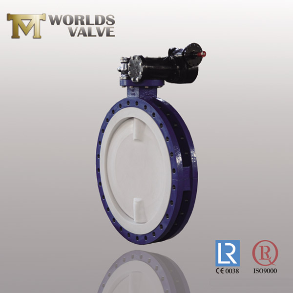 full PFA lining flanged butterfly valve