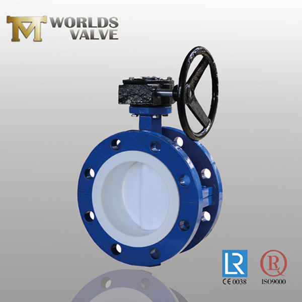 wafer type PFA split body butterfly valve
