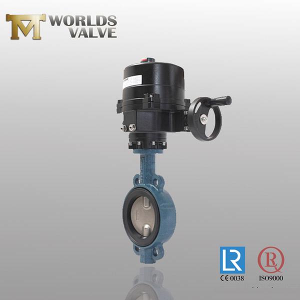 gear operation wafer butterfly valve