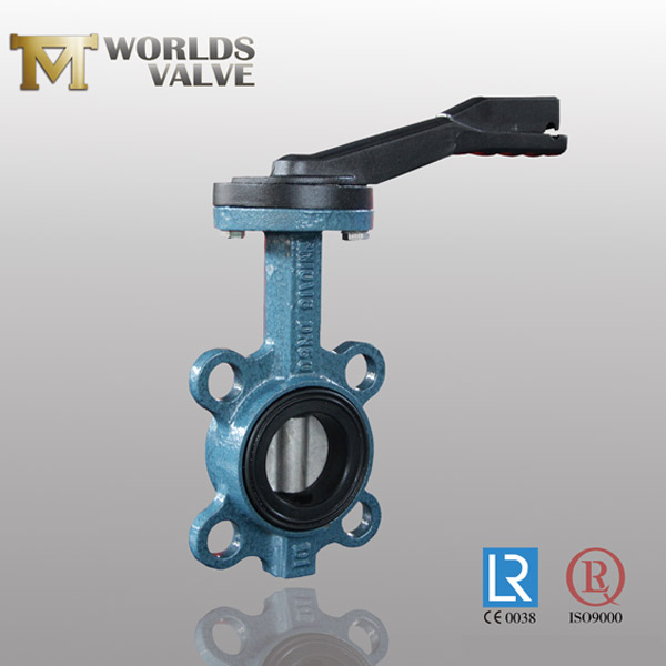 pinless wafer butterfly valve