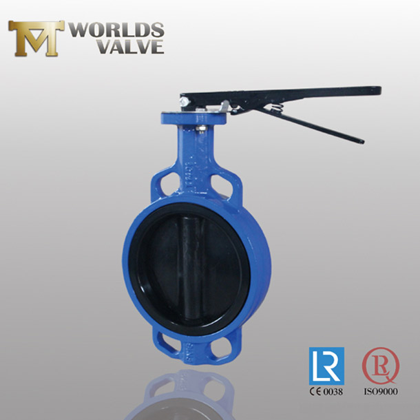 EPDM rubber vucanized wafer butterfly valve