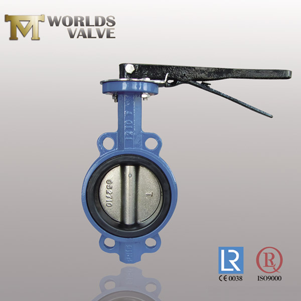 two shaft butterfly valve