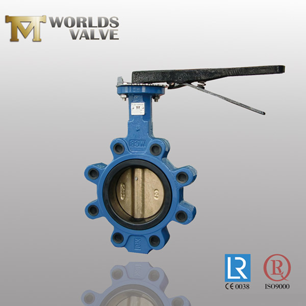 resilient seated lug butterfly valve