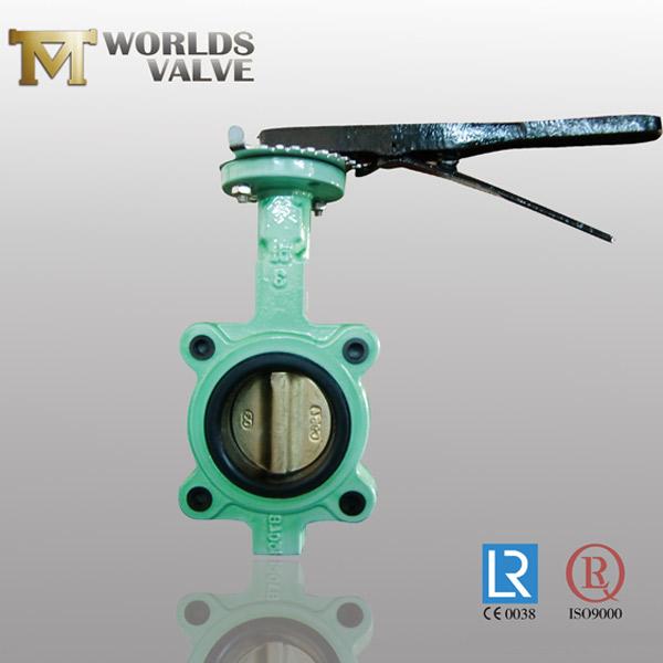 fkm liner lug butterfly valve