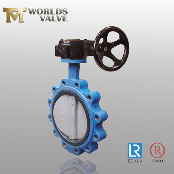 two shaft luged butterfly valve