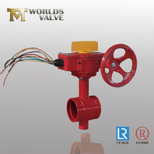 BS standard grooved butterfly valve
