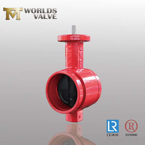 ductile iron grooved butterfly valve