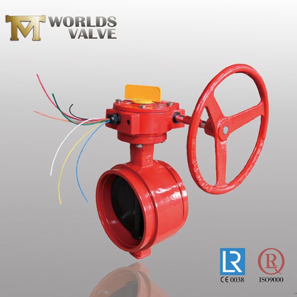 GGG40 grooved butterfly valve