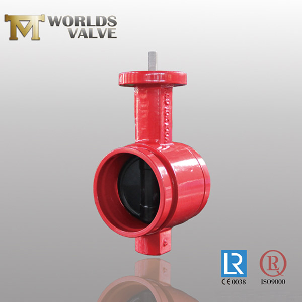 EPDM lined disc grooved butterfly valve