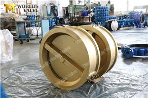 WAFER DUAL PALTE CHECK VALVE, AL-BRONZE C95400 C95800, Ductile Iron A536 A395,Stainless Steel CF8 CF8M1.4469, API594/ISO5752