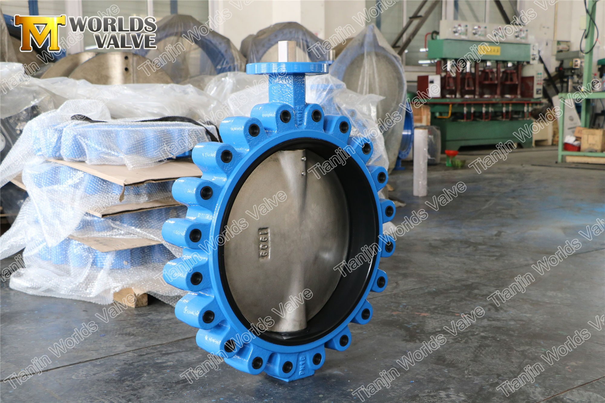 Full lugged butterfly valve. lug butterfly valve,A536 65-45-12,ASTM A351 CF8M DISC,20 inch