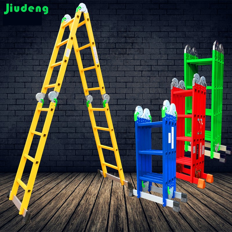 Aluminum Different Color Painting Chromatic Folding Step Ladder